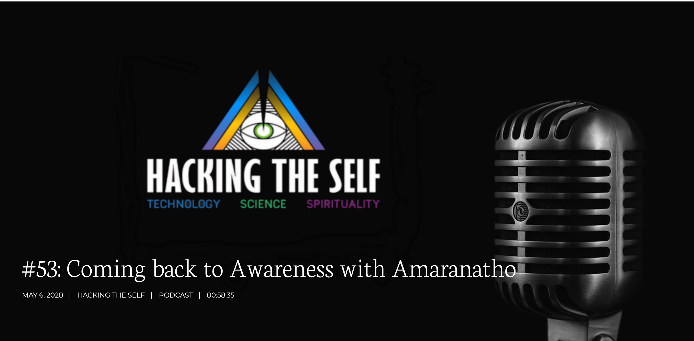 Coming back to Awareness  – Hacking the self podcast